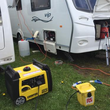 Inverter generator and isolation transformer