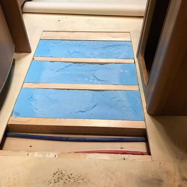 Floor Delamination repair by reinforcing
