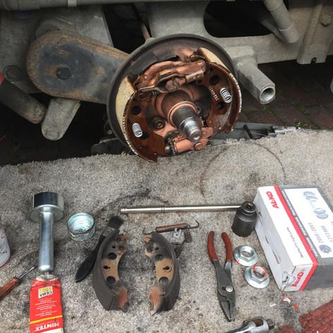 Caravan brake repair