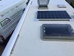 Motorhome caravan solar panel