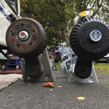 New Bailey caravan axle