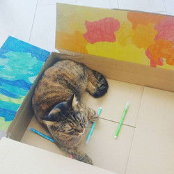 We Have Creative Tannit 😁🐱🖍✏🖌_▪_▪_▪_#Artwork #Childcare #Education #EYFs #babysitting #childmind