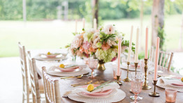 Summer Peach Styled Shoot | The Barn at Bridlewood