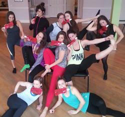 Chair Dance 101- girls and bottles