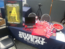 Celebrity Sweat table