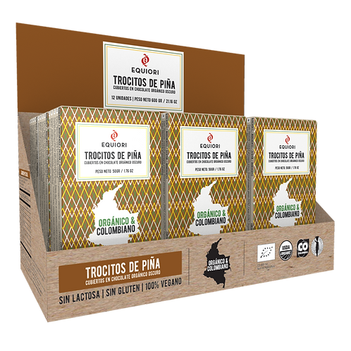 FRUTAS CUBIERTAS DE CHOCOLATE- EQUIORI (4 variedades)