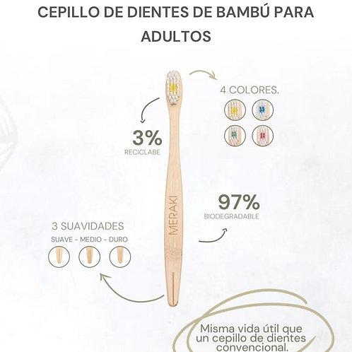 CEPILLO DE DIENTES DE BAMBÚ ADULTOS