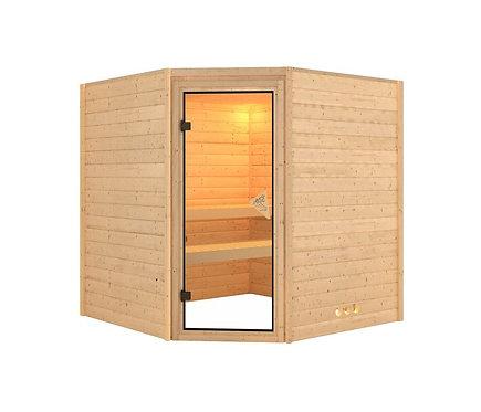 Otava Interline Massivholz Sauna Set:  9 kW Saunaofen, 400 V