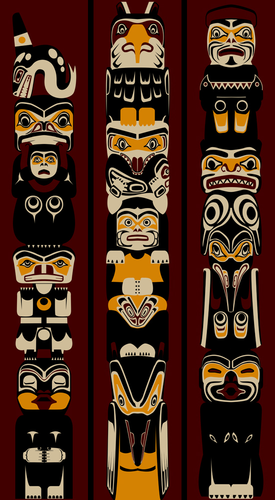 Totem banners 3 ft x 17 ft