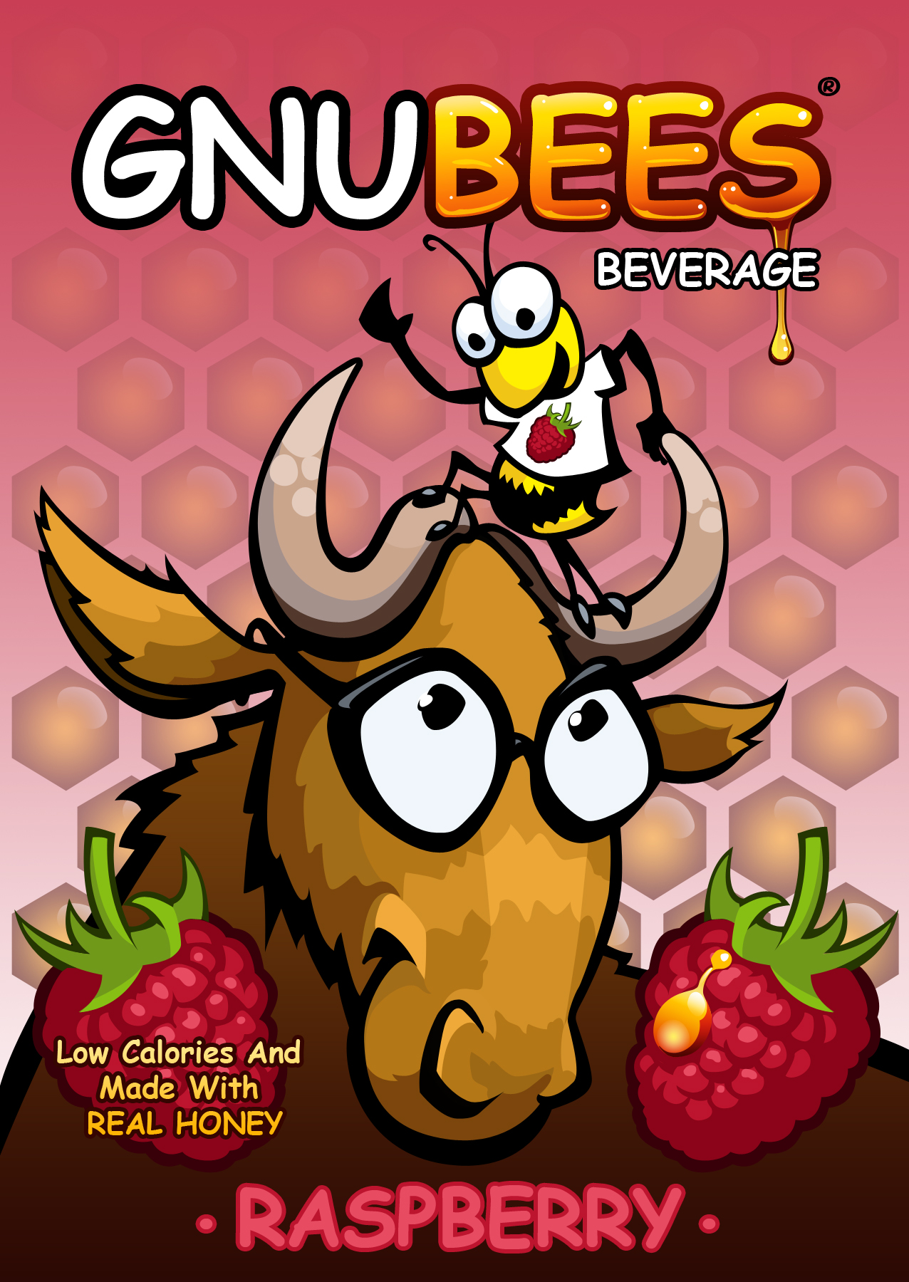 Gnubees beverage label