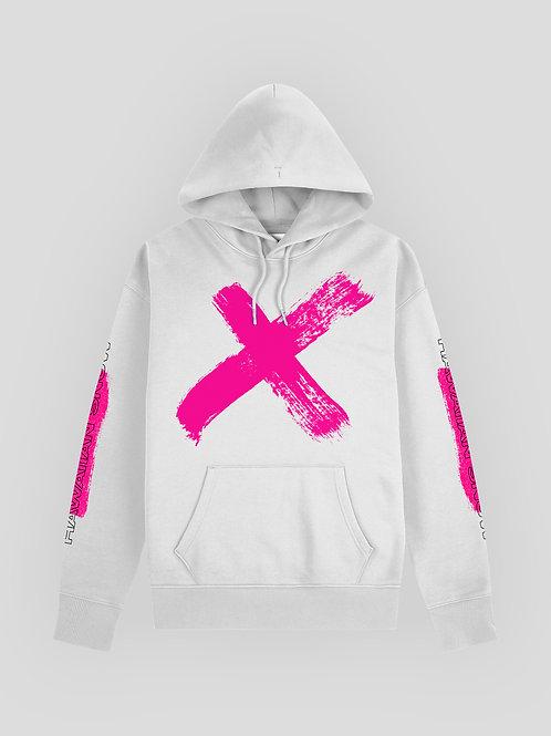 Hawaiian Snow X Hoodie (Pink on White) (Female)