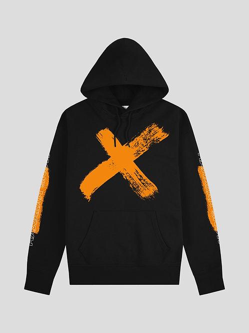 Hawaiian Snow X Hoodie (Orange on Black)