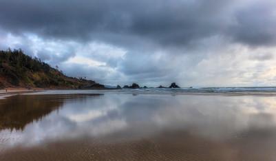 Indian Beach reflection