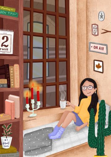 Evening in my apartment