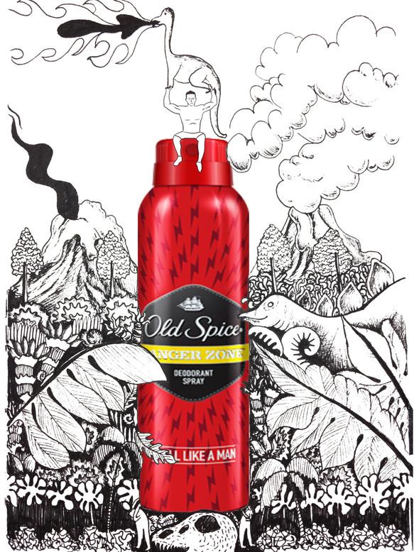 Old Spice Illustration