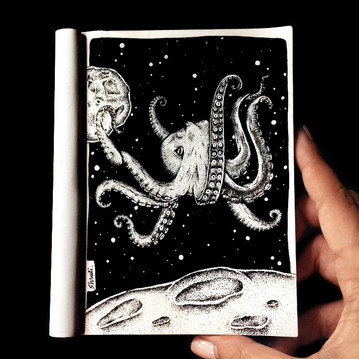 Sea And Space Illustration