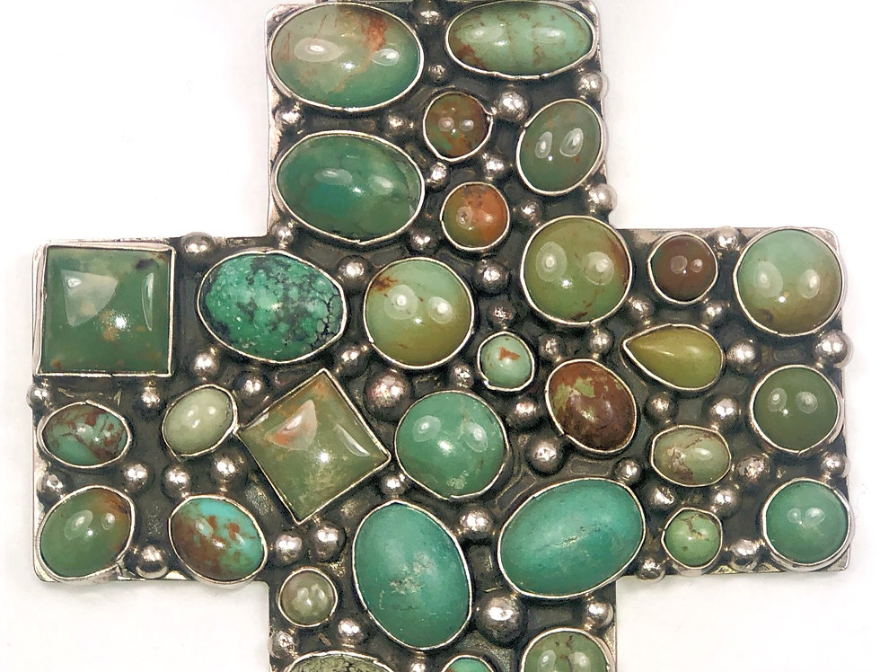 LARGE CROSS-Green Turquoise