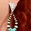 Thumbnail: Trading Post Turquoise hoop earrings