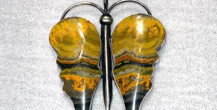 6-Mariposa Bumble Bee Jasper Pendant
