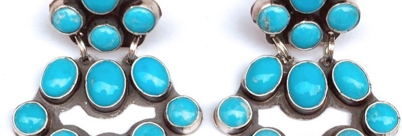 MINI CHANDLEARRING- Kingman Blue Turquoise