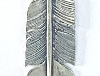 TRADING POST FEATHER CHARM