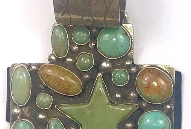 CROSSED PATH- Green Turquoise