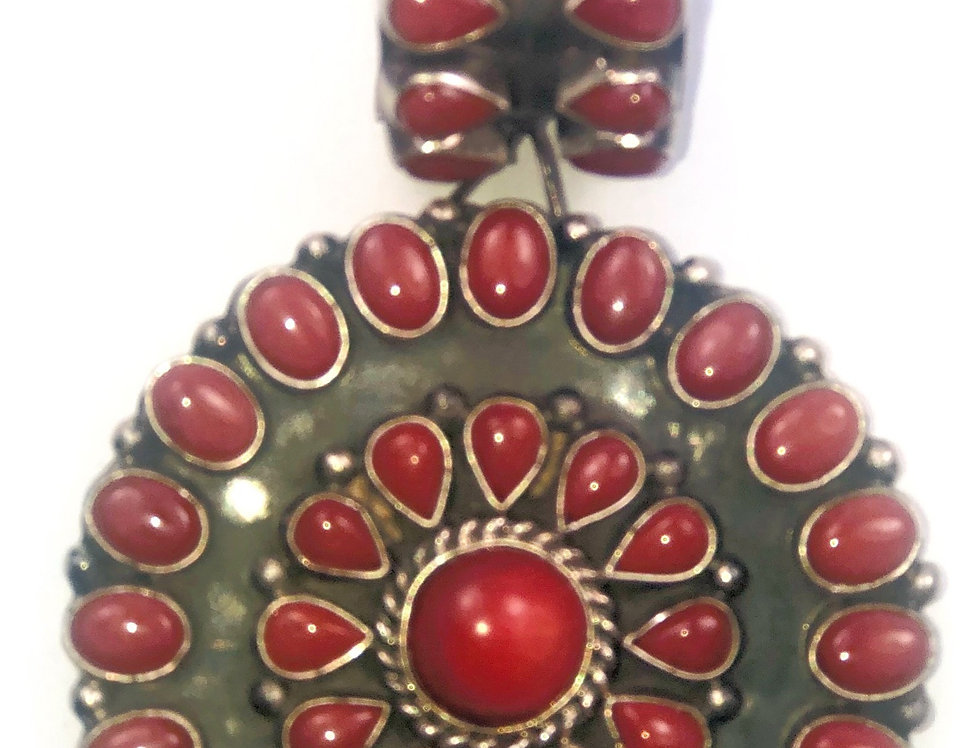 CIRCLE OF LIFE PENDANT-Red Coral