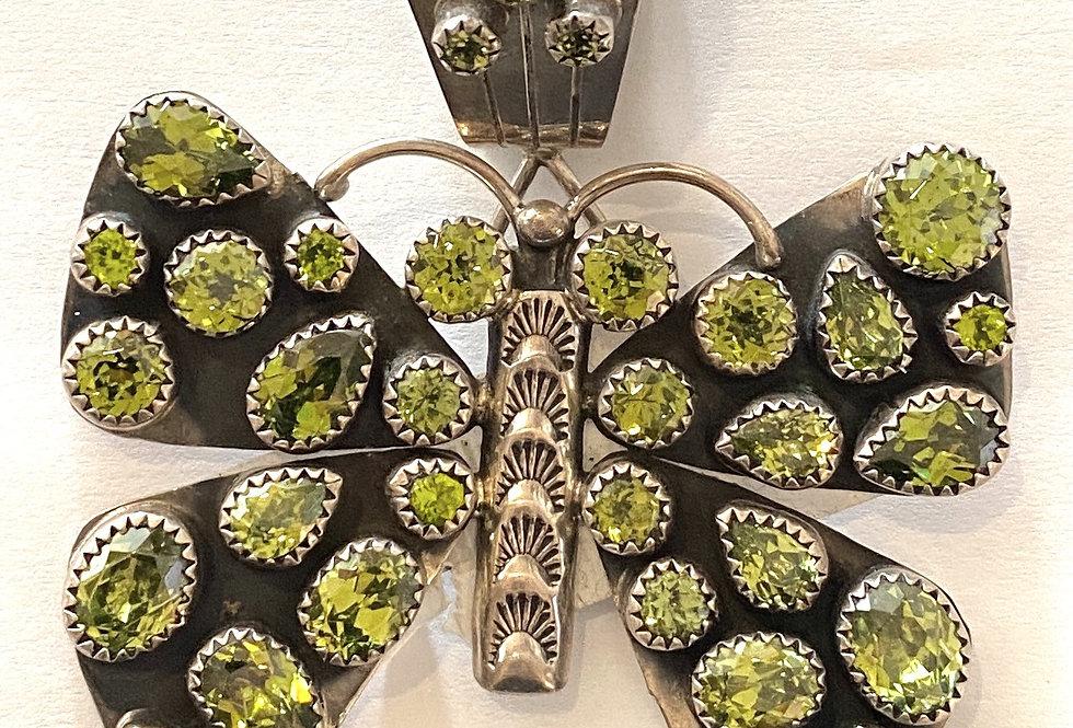 Peridot Butterfly Pendant