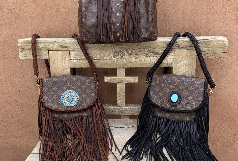 Vintage Louis Vuitton fringed bags