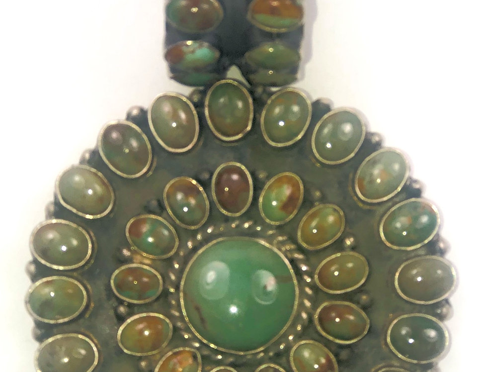 CIRCEL OF LIFE PENDANT-Green Turquoise