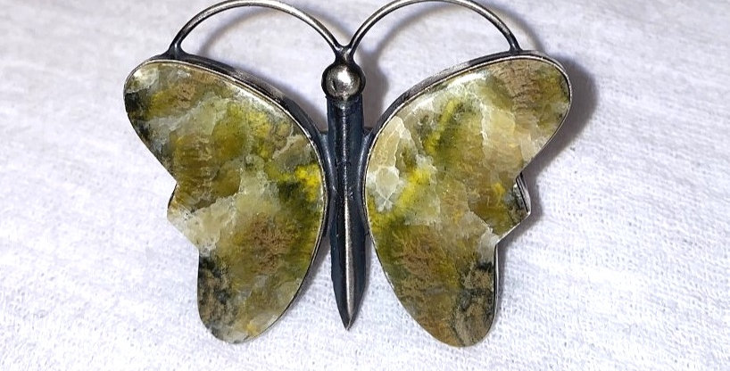 2-Mariposa Bumble Bee Jasper ring