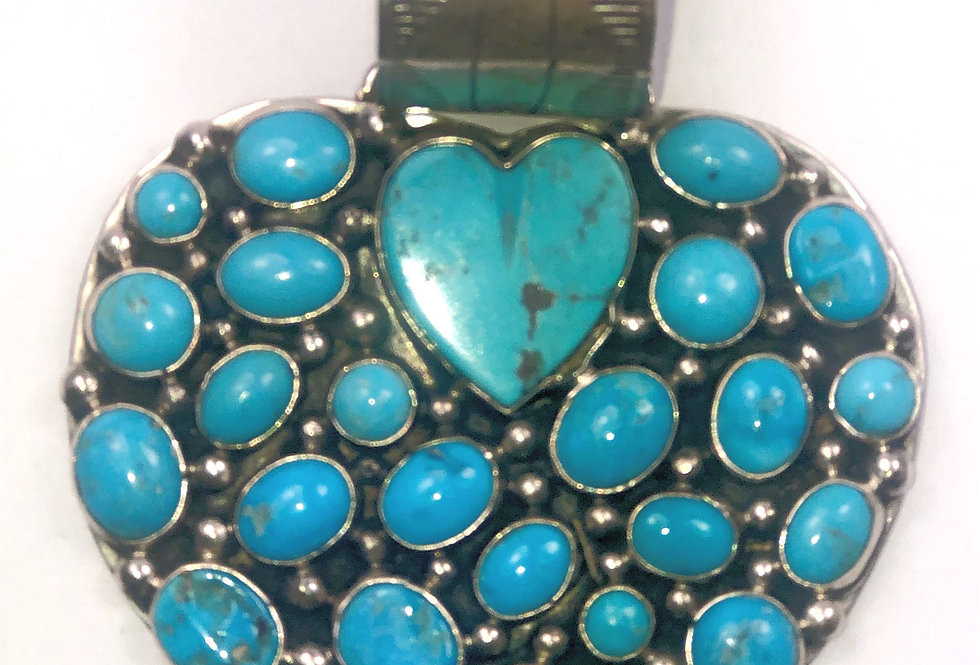 LARGE HEART-Blue Turquoise