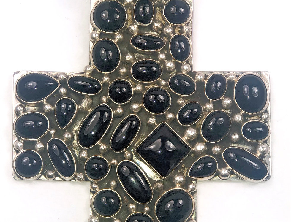 LARGE CROSS- Black Onyx