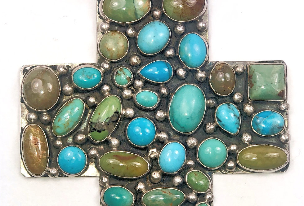 LARGE CROSS- Multi Turquoise