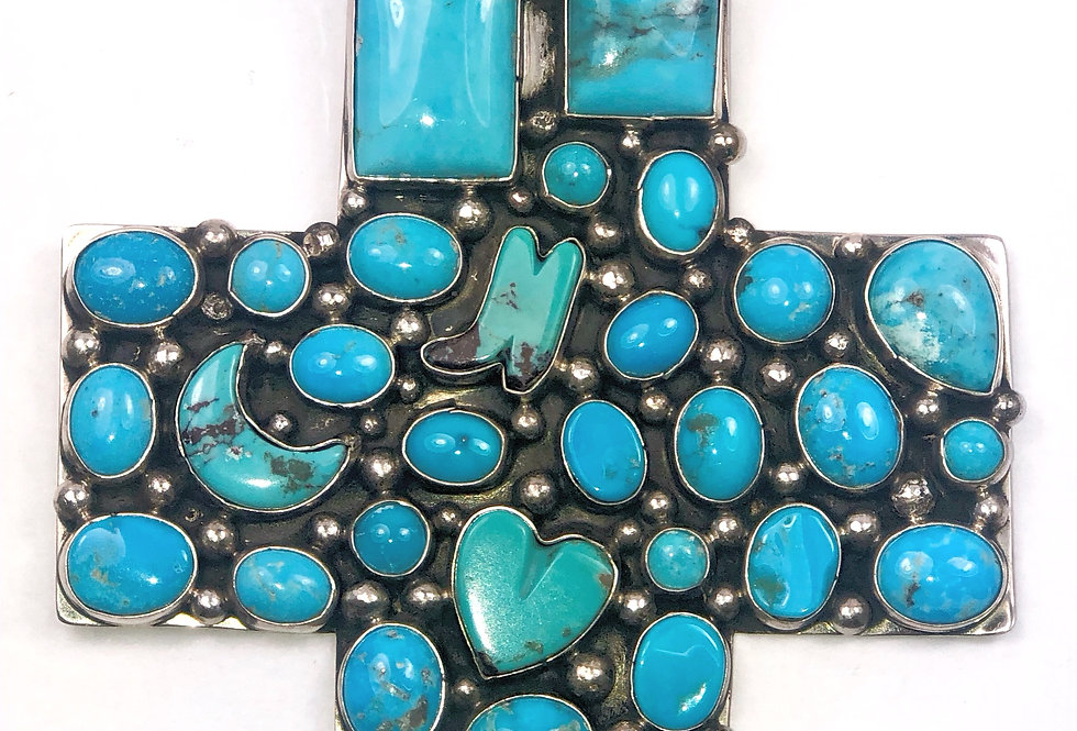 LARGE CROSS-Blue Turquoise