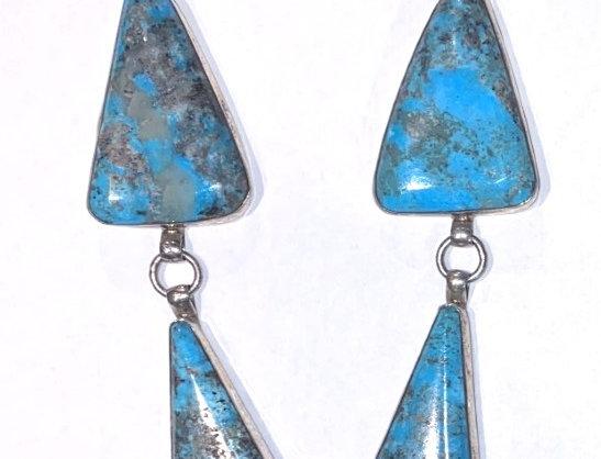 #4-7 stone blue Kingman necklace