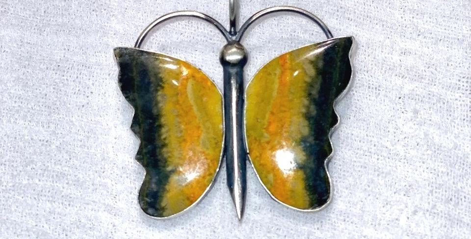 2- Mariposa Bumble Bee Jasper Pendant