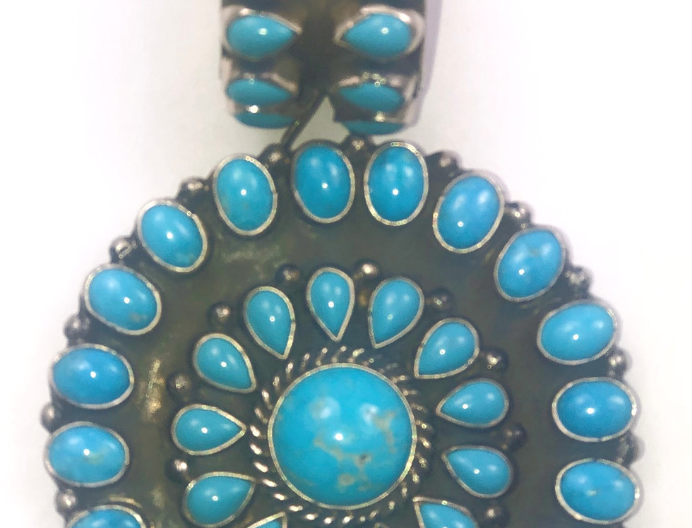 CIRCLE OF LIFE PENDANT-Blue Turquoise