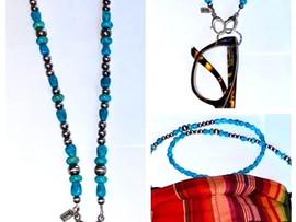 "Triple Threat ""Necklace"", Mask Holder, Glass holder."