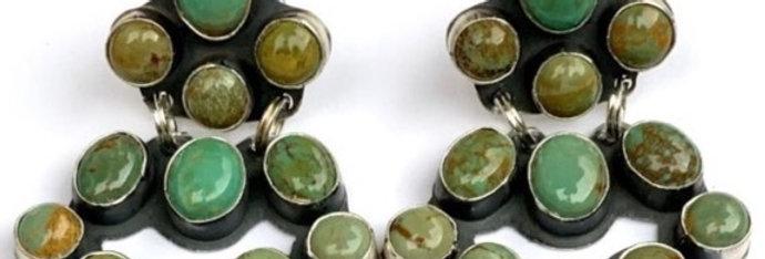 MINI CHANDLEARRING- Green Turquoise