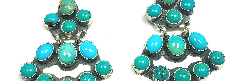 MINI CHANDLEARRINGS-Multi Turquoise