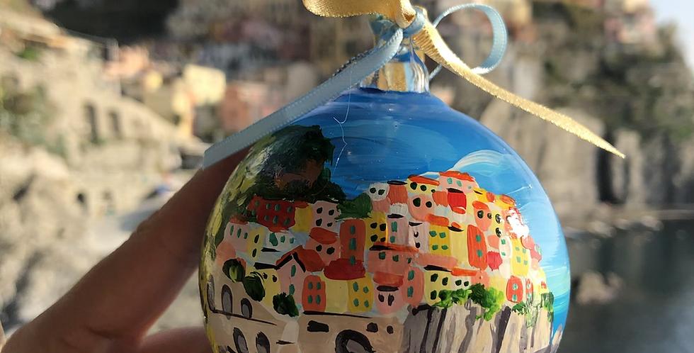 Handmade Manarola, Cinque Terre Ornament