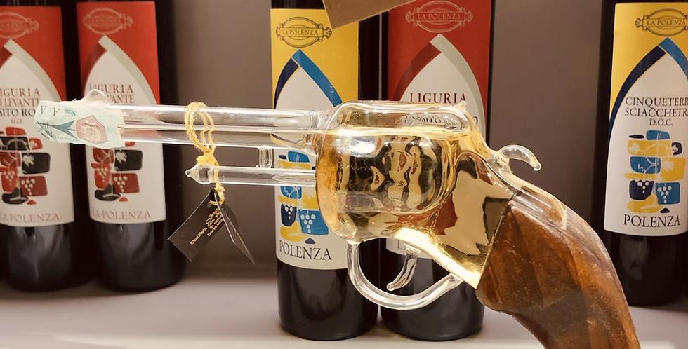 Handmade Wooden & Glass Grappa Gun
