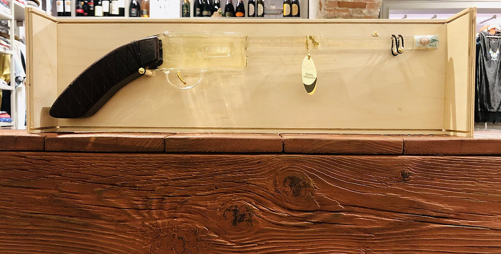 Handmade Wood & Glass Shotgun Grappa