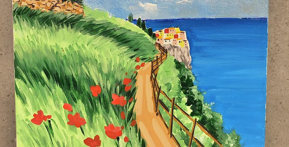 Canvas 20 x 20 Manarola, Cinque Terre