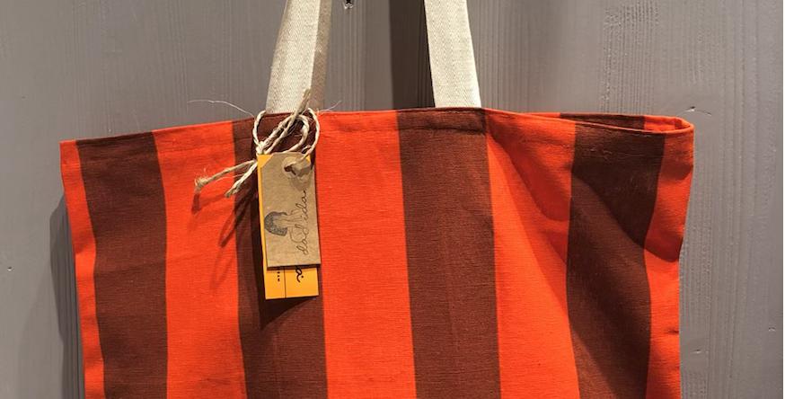 Handmade Red Striped Bag