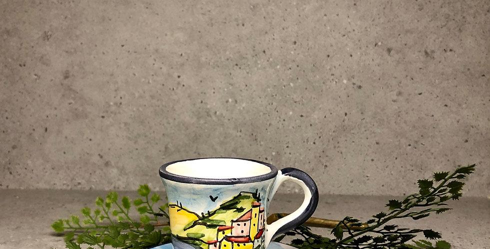 Cinque Terre Espresso cup & plate
