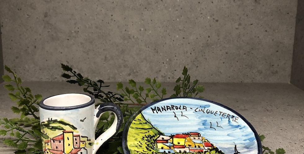 Cinque Terre Espresso Shot & Plate