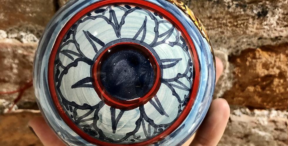 Cinque Terre Ornaments - Navy & Red Bottom