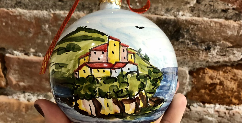 Cinque Terre Ornaments - Yellow Bottom